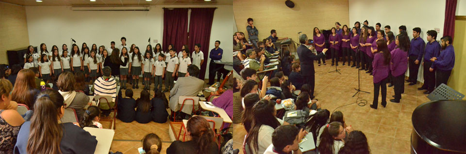"""Coros estudiantiles se presentaron en """"Encuentros Musicales"""" UPLA"""