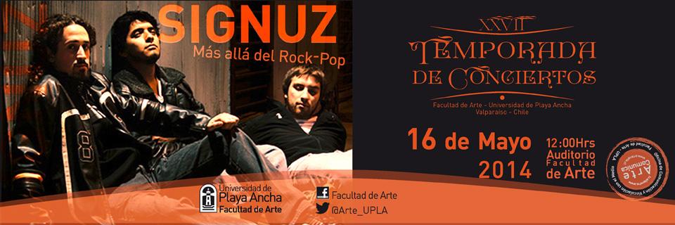 """Con la presentación de """"Signuz"""" continúa la Temporada de Conciertos en la UPLA"""