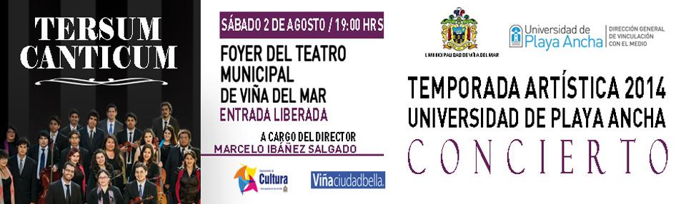 Tersum Canticum se presentará en Teatro Municipal de Viña del Mar