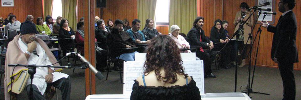 Tersus Canticum lleva música y cultura a los pacientes del Hospital Gustavo Fricke