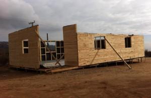 La vivienda se emplaza en un terreno provisorio del cerro La Cruz