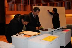 Recuento de votos proceso eleccionario