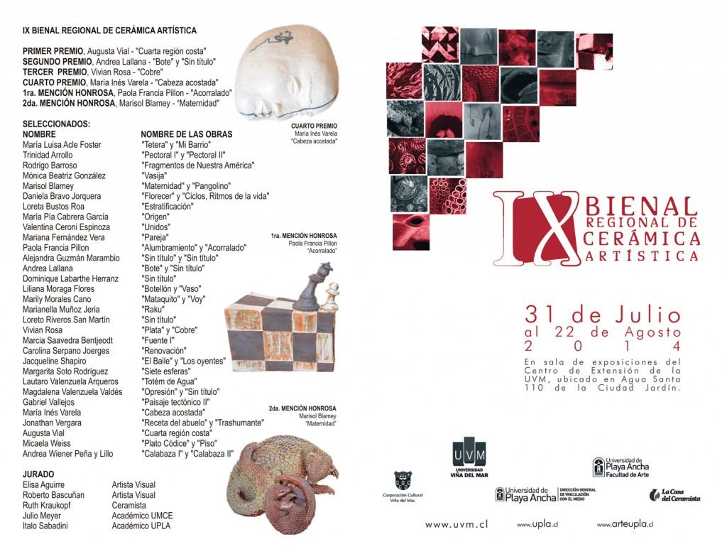 Catálogo con obras IX Bienal de Cerámica