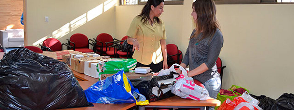 Campus San Felipe UPLA colabora con damnificados por incendio