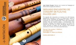 Invitación segundo encuentro consort flautas